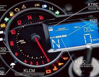 Dashboard Kontrol Elektronik Kawasaki Ninja H2