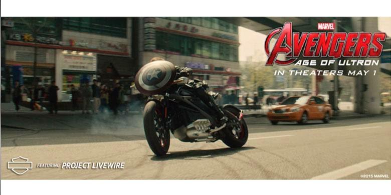 Harley Davidson Listrik tampil di Film The Avengers Age of Ultron