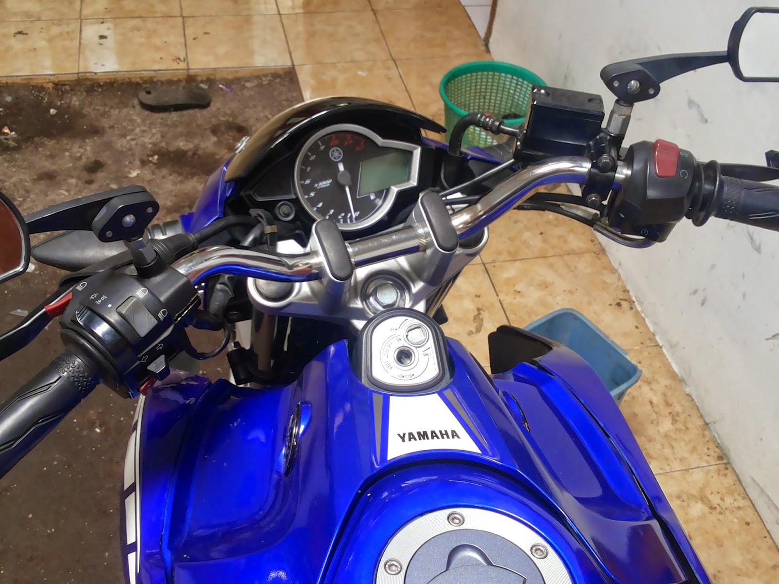 Pasang stang Ninja R di New Vixion cocok buat yang pake Underbone