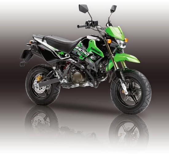 Kawasaki KSR 110 striping warna hijau
