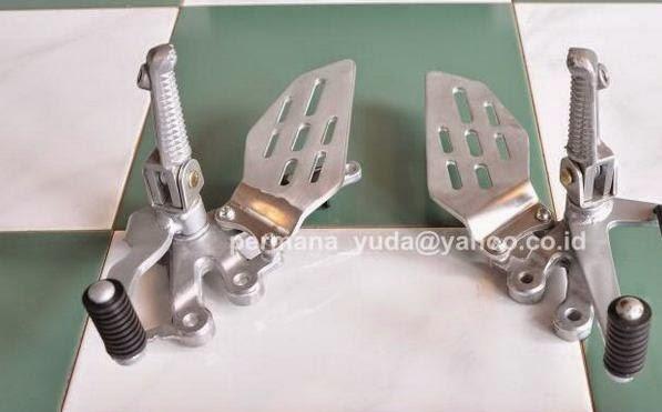 Modifikasi New vixion pake footrest Underbone part R15