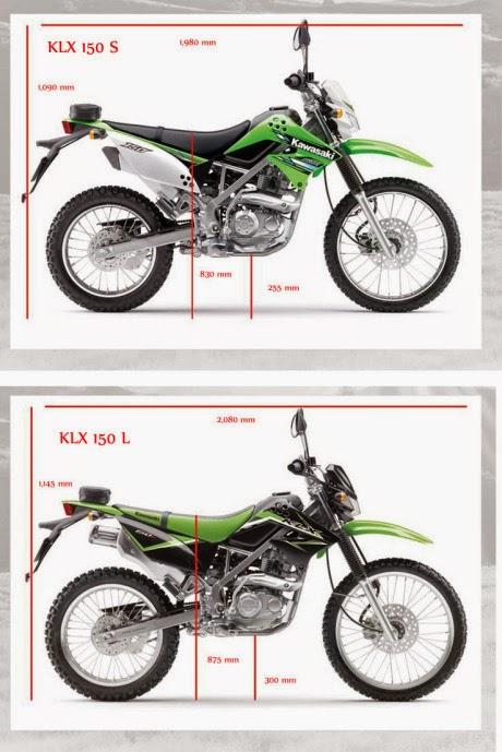 Perbedaan klx 150L dengan KLX 150S 2