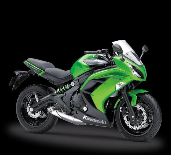 Pilihan warna dan Striping Kawasaki Ninja 650 ABS Putih