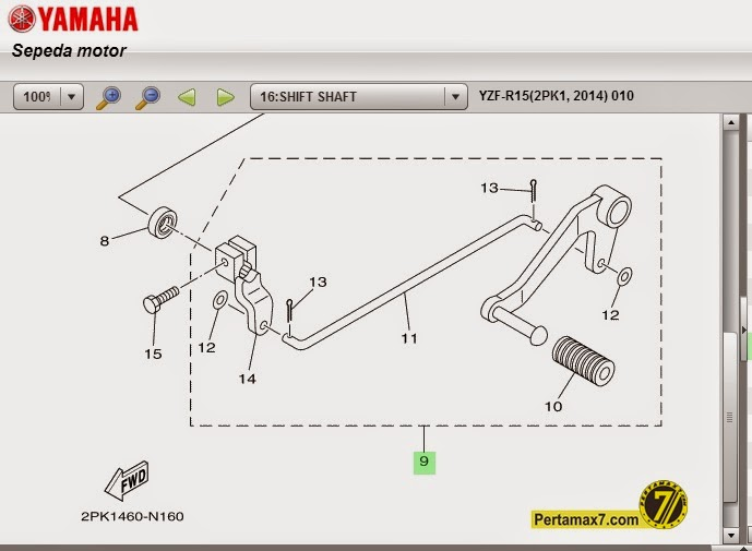 pedal-shift-yamaha-r15-bagian-kiri