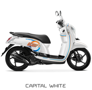 All New Honda Scoopy ESP Sporty Capital White Putih