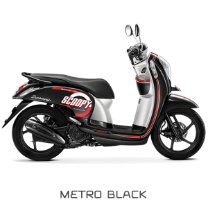 All New Honda Scoopy ESP Sporty Metro Black Hitam
