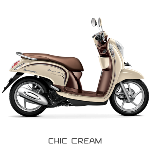 All New Honda Scoopy ESP Stylish Chic Cream