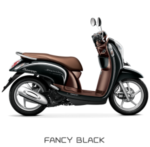 All New Honda Scoopy ESP Stylish Fancy Black Hitam