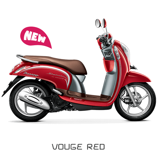 All New Honda Scoopy ESP Stylish Vouge Red Merah