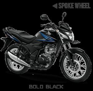 Honda verza 150 Jari-jari Bold Black Hitam