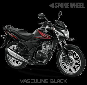 Honda verza 150 Jari-jari Masculine Black Hitam