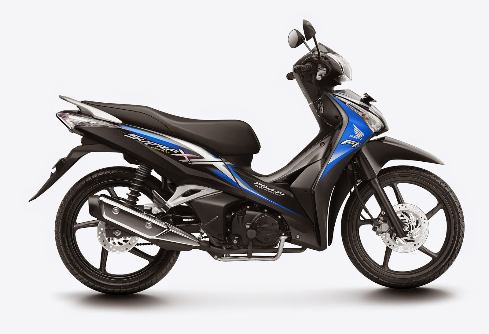 honda Supra X 125 Helm in PGM-FI Glorious Blue