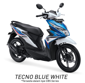 Honda Beat ESP Techno Blue White Putih Biru