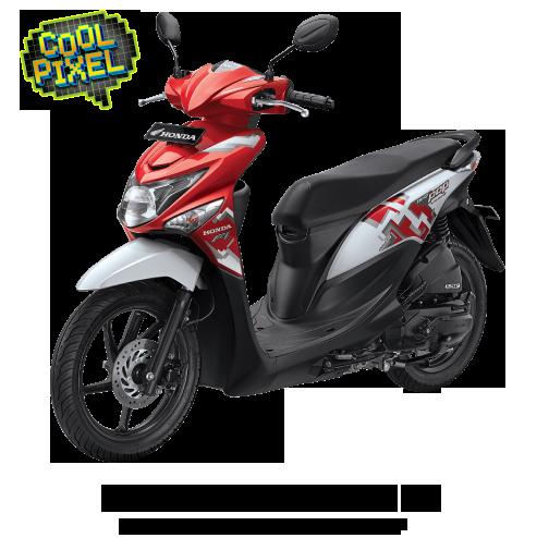 Honda Beat Pop Groovy Red White Putih Merah