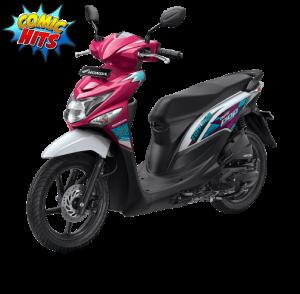 Honda Beat Pop Voice Magenta WHite Pink Putih