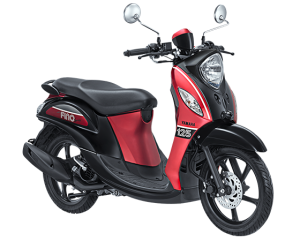 2017 Yamaha Fino Sporty Merah Hitam