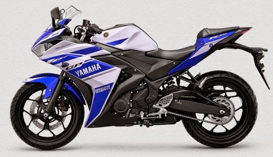 Yamaha R25 Striping Diablo BLue atau biru