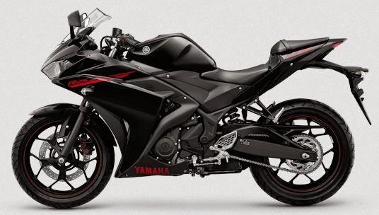 Yamaha R25 Striping Diablo Black atau Hitam