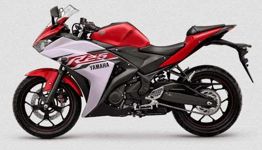 Yamaha R25 Striping Diablo Red atau merah