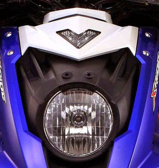 lampu senja X ride berbentuk V