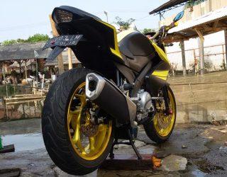 Modifikasi Yamaha New Vixion Pake Body Belakang Ninja 2