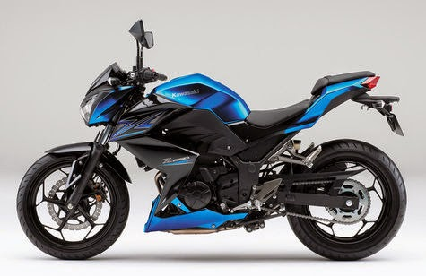Pilihan Warna Kawasaki Z250 Tahun 2015 biru