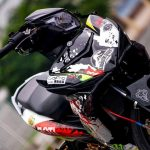 modifikasi yamaha mx king 150 pakai rem brembo underbone racing striping keren