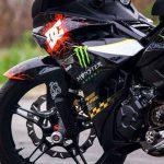 modifikasi yamaha mx king 150 pakai rem brembo underbone racing striping keren 4