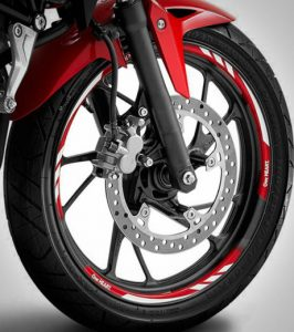 Wheel rim sticker honda all new cb150r