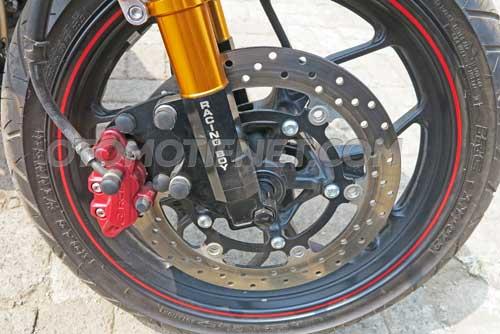 Yamaha MX King pakai velg ori R25 1