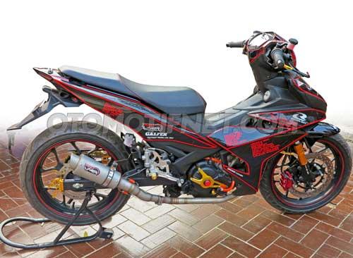 Yamaha MX King pakai velg ori R25 6