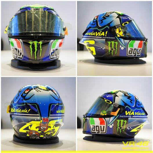 Desain Baru Helm AGV Valentino Rossi 2