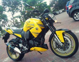 Modifikasi Yamaha Byson pake shroud atau sayap scorpio