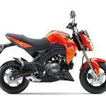 Pilihan warna Kawasaki Z125 Automatic Orange 3