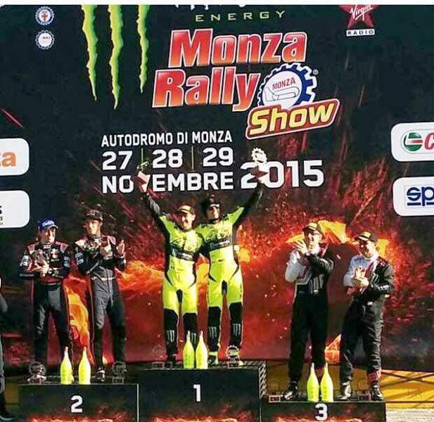 Valentino Rossi Menjadi Juara di Monza Rally Show 2015