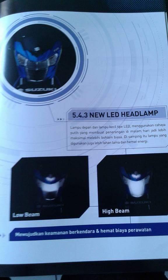 Headlamp LED Suzuki Satria FU 150 Injeksi