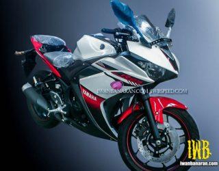 Yamaha R25 Striping dan pilihan warna putih merah terbaru 2016 1