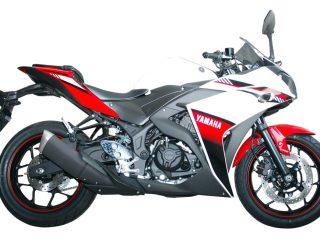 Yamaha R25 warna baru Diablo Red (merah)