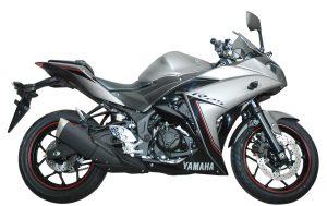 Yamaha R25 warna baru Spectre Grey (abu-abu)