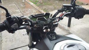 foto penampakan all new cb150r pake stang old vixion 2