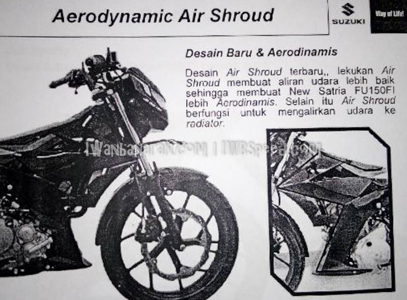 Aerodynamic Air Shroud suzuki satria fu 150 fi dengan desain baru