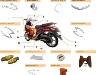 Aksesoris Ori Yamaha Fino Premium