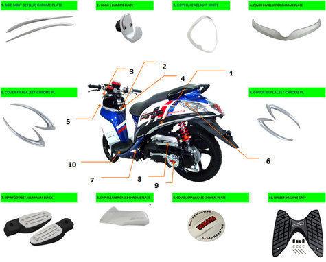 Aksesoris Ori Yamaha Fino Sporty
