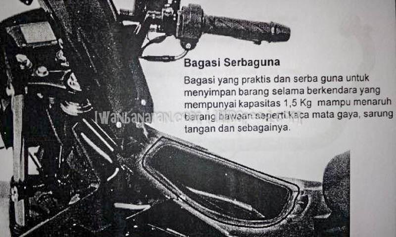 Bagasi Ekstra satria fu injeksi