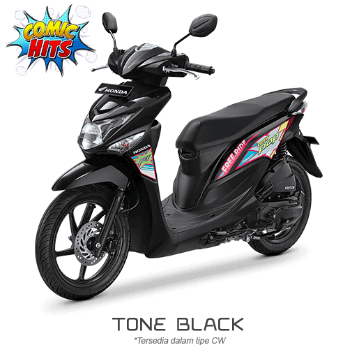 Honda Beat ESP Comic Hits tone black 2016