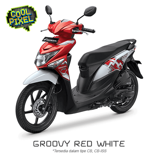 Honda Beat ESP Cool Pixel Groovy Red White  2016