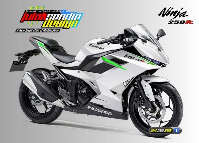 Ninja 250 Facelift Render JSD