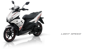 Pilhan warna Yamaha Aerox 125 LC light speed white