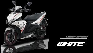 Pilhan warna Yamaha Aerox 125 LC light speed white
