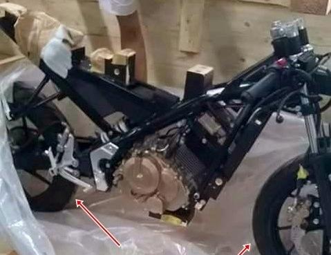 Rangka Mesin diduga Suzuki GSX R150